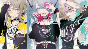 Rating: Safe Score: 51 Tags: bandage collar gumi hatsune_miku heremia kagamine_rin sketch vocaloid User: FormX