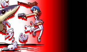 Rating: Safe Score: 9 Tags: animal blood disgaea gun mazda pleinair rabbit shark weapon User: Oyashiro-sama