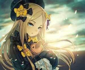 Rating: Safe Score: 90 Tags: abigail_williams_(fate/grand_order) aqua_eyes blonde_hair bow fate/grand_order fate_(series) hat kusano_shinta loli long_hair teddy_bear User: RyuZU