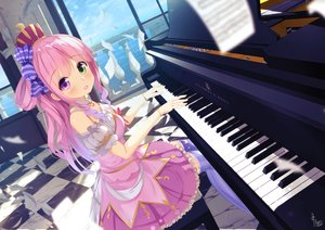 Rating: Safe Score: 48 Tags: bicolored_eyes blush chinomaron crown dress himemori_luna hololive instrument long_hair piano signed wristwear User: BattlequeenYume