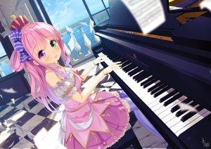 Rating: Safe Score: 51 Tags: bicolored_eyes blush chinomaron crown dress himemori_luna hololive instrument long_hair piano signed wristwear User: BattlequeenYume