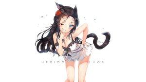 Rating: Safe Score: 162 Tags: animal_ears aqua_eyes black_hair blush breasts catgirl cheli_(kso1564) cleavage final_fantasy final_fantasy_xiv long_hair miqo'te signed swimsuit tail white wink User: RyuZU