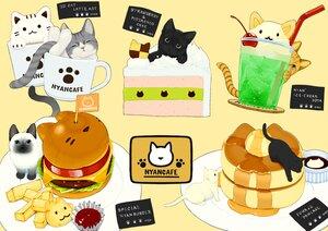 Rating: Safe Score: 15 Tags: animal cake cat cherry drink food fruit ice_cream lilac_(pfeasy) nobody original User: otaku_emmy