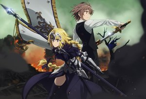 Rating: Safe Score: 41 Tags: cropped fate/apocrypha fate_(series) jeanne_d'arc_(fate) sieg_(fate/apocrypha) tagme_(artist) User: RyuZU