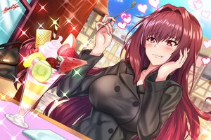Rating: Safe Score: 43 Tags: apple blush breasts building cherry city clouds fate/grand_order fate_(series) food fruit heart ice_cream long_hair nez-kun purple_hair red_eyes scathach_(fate/grand_order) signed sky strawberry watermelon User: otaku_emmy