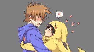 Rating: Safe Score: 84 Tags: all_male blush cosplay hoodie male maruki_(punchiki) ookido_green pokemon red_(pokemon) shounen_ai transparent vector User: Dummy