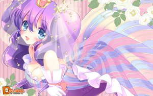 Rating: Safe Score: 65 Tags: 108_gou breast_hold breasts cleavage crown d_chara_mail dmm dress elbow_gloves gloves purple_hair User: Wiresetc
