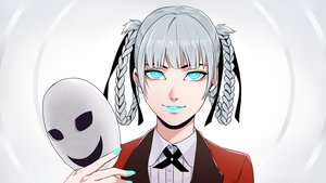 Rating: Safe Score: 42 Tags: aqua_eyes braids gray_hair kakegurui mask momobami_kirari school_uniform twintails wanwan User: RyuZU