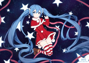 Rating: Safe Score: 56 Tags: blue_eyes blue_hair boots christmas hatsune_miku long_hair ribbons santa_costume space stars sugar_sound thighhighs twintails vocaloid User: mattiasc02