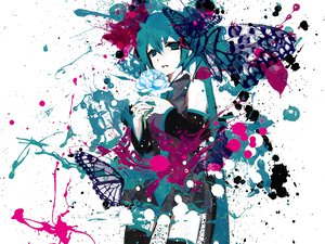 Rating: Safe Score: 61 Tags: butterfly flowers hatsune_miku meola vocaloid User: HawthorneKitty