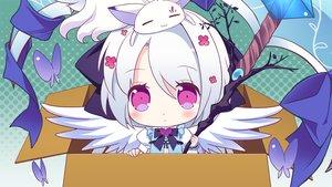 Rating: Safe Score: 120 Tags: animal cat chibi game_cg izumi_tsubasu koi_ga_saku_koro_sakura_doki tina_(koi_ga_saku_koro_sakura_doki) white_hair wings User: C4R10Z123GT