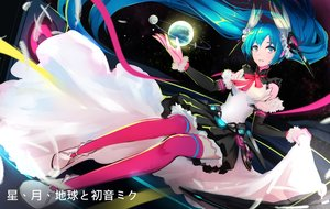Rating: Safe Score: 24 Tags: aqua_eyes aqua_hair feathers hatsune_miku iyokamioto long_hair ribbons skirt thighhighs twintails vocaloid User: RyuZU