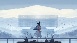 Rating: Safe Score: 74 Tags: animal animal_ears barefoot bird black_hair bow bunny_ears clouds dress long_hair original ribbons scenic sky summer_dress tagme_(artist) User: ssagwp