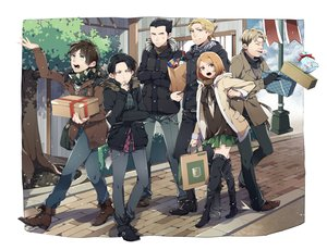 Rating: Safe Score: 74 Tags: auruo_bossard black_hair blonde_hair blood boots brown_eyes brown_hair erd_gin eren_jaeger green_eyes group gunter_shulz kiragera levi_ackerman petra_ral scarf shingeki_no_kyojin short_hair skirt thighhighs tree yellow_eyes User: FormX