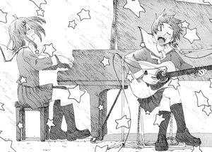 Rating: Safe Score: 11 Tags: concerto fukagawa_ino hattori_mitsuru music oosawa_hitomi User: Oyashiro-sama