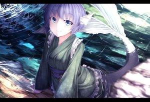 Rating: Safe Score: 116 Tags: blue_eyes long_hair mermaid purple_hair rerrere touhou wakasagihime water User: humanpinka