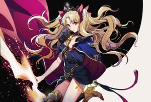 Rating: Safe Score: 32 Tags: blonde_hair bow cape crown dress ereshkigal_(fate/grand_order) fate/grand_order fate_(series) long_hair red_eyes twintails yosi135 User: BattlequeenYume