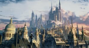 Rating: Safe Score: 51 Tags: animal_ears arknights boots building city gray_hair landscape lappland_(arknights) long_hair ouko scenic sky sword weapon User: Nepcoheart