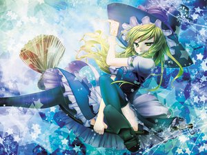 Rating: Safe Score: 59 Tags: blonde_hair dress green_eyes hat kirisame_marisa long_hair magic scarlet_(studioscr) touhou witch User: anaraquelk2