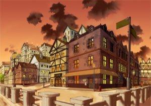 Rating: Safe Score: 41 Tags: building city clouds nobody scenic shouji_ayumu sky sunset User: jjj14