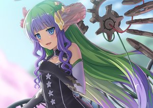 Rating: Safe Score: 46 Tags: ames_(princess_connect!) aqua_eyes elbow_gloves gloves green_hair long_hair pointed_ears princess_connect! umarutsufuri User: sadodere-chan