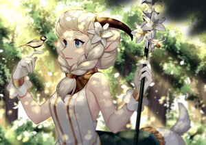 Rating: Safe Score: 17 Tags: afk_arena animal animal_ears bird blue_eyes flowers forest gloves horns jenevan nemora_(afk_arena) spear tree weapon white_hair User: Maboroshi
