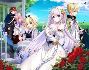 Rating: Safe Score: 44 Tags: aliasing blonde_hair blue_eyes dress flowers group kisaragi_yuri long_hair maid male original rose short_hair User: Fepple