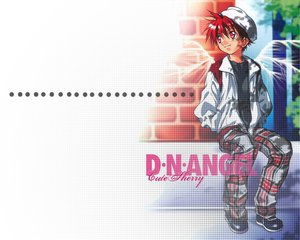 Rating: Safe Score: 2 Tags: all_male dnangel hat male niwa_daisuke red_eyes red_hair sugisaki_yukiru wings User: Oyashiro-sama