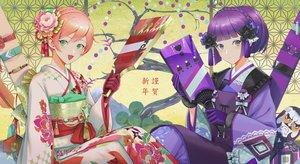 Rating: Safe Score: 20 Tags: 2girls anthropomorphism carcano_m1891_(girls_frontline) carcano_m91/38_(girls_frontline) girls_frontline japanese_clothes kimono makkuro short_hair User: Dreista