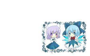 Rating: Safe Score: 9 Tags: 2girls blush bow chibi cirno fairy hat letty_whiterock touhou white wings User: SciFi