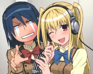 Rating: Safe Score: 19 Tags: headphones male maria_holic miyamae_kanako shidou_mariya trap User: pantu