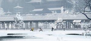 Rating: Safe Score: 46 Tags: agatsuma_zenitsu all_male building fom_(lifotai) hashibira_inosuke kamado_tanjirou kimetsu_no_yaiba male scenic signed snow User: FormX