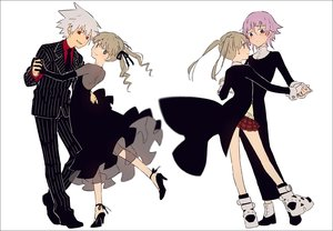 Rating: Safe Score: 32 Tags: black_eyes blonde_hair brown_eyes chrona dress elbow_gloves gloves gray_hair hakusai long_hair maka_albarn male red_eyes short_hair skirt soul_eater soul_eater_evans suit tie twintails User: otaku_emmy