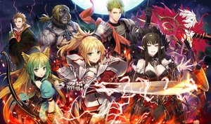 Rating: Safe Score: 65 Tags: achilles animal_ears armor atalanta_(fate) black_hair blonde_hair bow_(weapon) braids brown_eyes brown_hair dress elbow_gloves fate/apocrypha fate_(series) gabiran gloves green_eyes green_hair group karna long_hair male mordred pointed_ears ponytail semiramis short_hair spartacus sword tail weapon william_shakespeare User: RyuZU