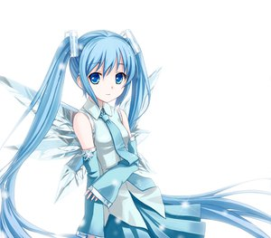 Rating: Safe Score: 97 Tags: hatsune_miku tucana twintails vocaloid white wings User: HawthorneKitty