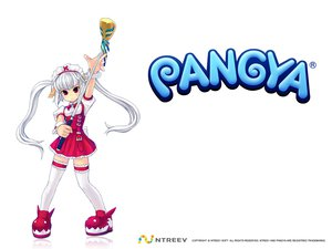 Rating: Safe Score: 10 Tags: kooh long_hair pangya red_eyes thighhighs twintails white white_hair User: 秀悟