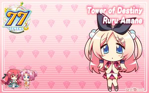 Rating: Safe Score: 27 Tags: 77 amane_ruru blue_eyes chibi komowata_haruka long_hair school_uniform User: oranganeh