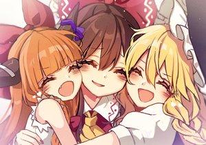 Rating: Safe Score: 34 Tags: close hakurei_reimu hug ibuki_suika kirisame_marisa kyouda_suzuka loli touhou User: mattiasc02