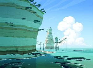 Rating: Safe Score: 44 Tags: animal bird clouds landscape oban_star_racers scenic sky tree water User: gnarf1975