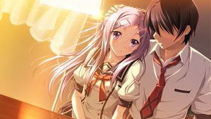 Rating: Safe Score: 99 Tags: amou_mikage game_cg kikurage purple_software seifuku shiawase_kazokubu User: kowarenai