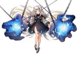 Rating: Safe Score: 63 Tags: blue_eyes blush chain dress gray_hair hyorang long_hair original white User: RyuZU
