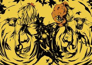 Rating: Safe Score: 33 Tags: aki_minoriko aki_shizuha food fruit hat mito_(calcomer) monochrome touhou yellow User: PAIIS