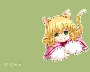 Rating: Safe Score: 12 Tags: animal_ears blonde_hair blush catgirl cat_smile green green_eyes hina_ichigo rozen_maiden tail User: Oyashiro-sama