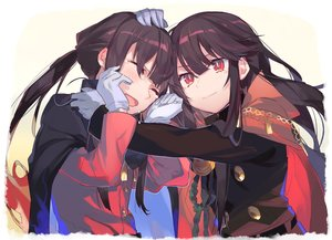 Rating: Safe Score: 32 Tags: blush brown_hair cape fate/grand_order fate_(series) gloves hug long_hair male muggle_123 nobukatsu_oda_(fate) nobunaga_oda_(fate) ponytail red_eyes tears waifu2x User: otaku_emmy