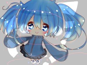 Rating: Safe Score: 60 Tags: blue_eyes blue_hair blush chibi close ene_(kagerou_project) kagerou_project twintails ushi_neko User: mattiasc02