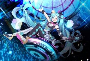 Rating: Safe Score: 24 Tags: hatsune_miku hazakura_chikori magical_mirai_(vocaloid) vocaloid wink User: FormX