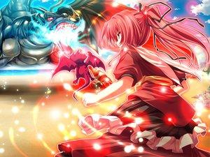 Rating: Safe Score: 25 Tags: dragon game_cg long_hair magus_tale orange_eyes ponytail red_hair ribbons seera_finis_victoria tenmaso whirlpool User: Oyashiro-sama