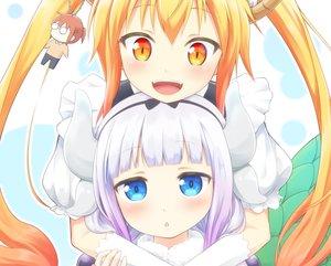 Rating: Safe Score: 87 Tags: 2girls close cropped horns kanna_kamui kobayashi-san_chi_no_maid_dragon loli tagme_(artist) tooru_(maidragon) User: luckyluna