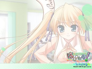 Rating: Safe Score: 25 Tags: blonde_hair green_eyes happiness hiiragi_anri ko~cha long_hair school_uniform twintails User: 秀悟