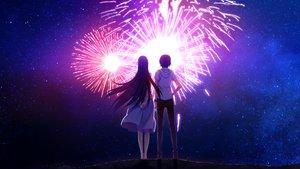 Rating: Safe Score: 200 Tags: fireworks game_cg grisaia_no_kajitsu grisaia_no_meikyu sakaki_yumiko sky watanabe_akio User: Nnyuu